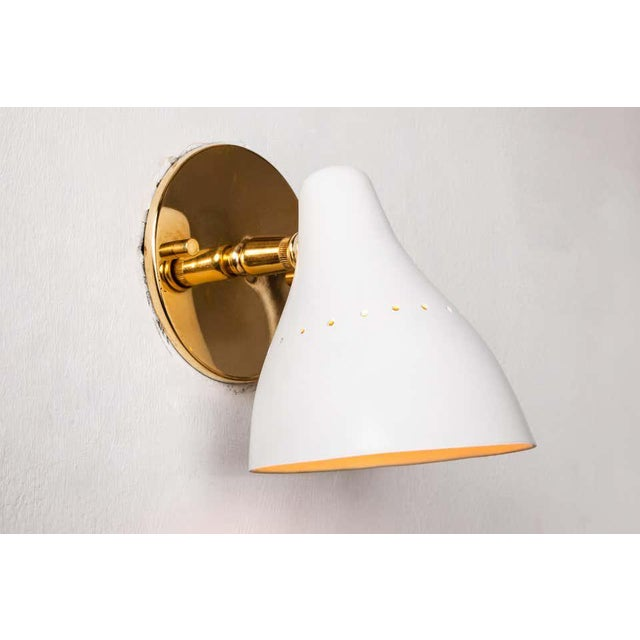 1950s Gino Sarfatti White Articulating Sconce for Arteluce For Sale In Los Angeles - Image 6 of 13