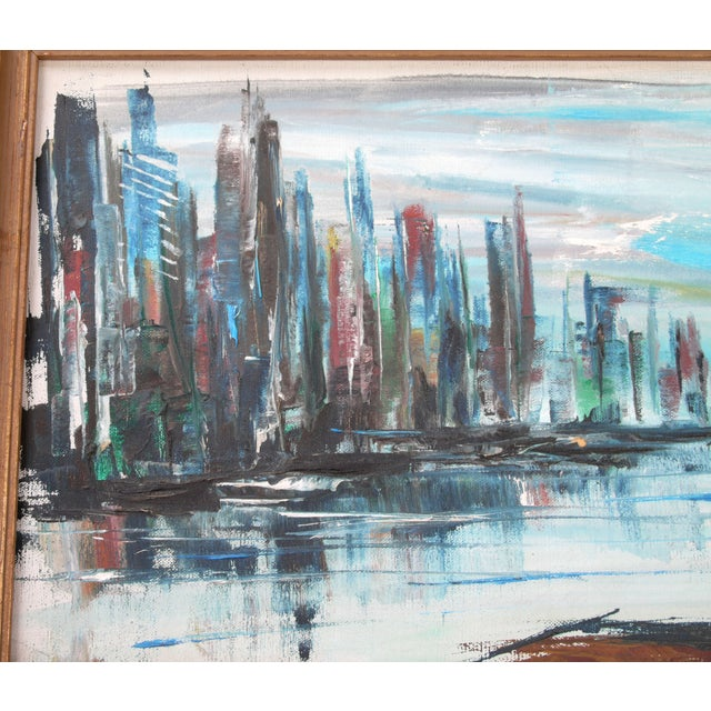 """Contemporary Rod Rodgers Painting, """"East Side Skyline"""" For Sale - Image 3 of 8"""