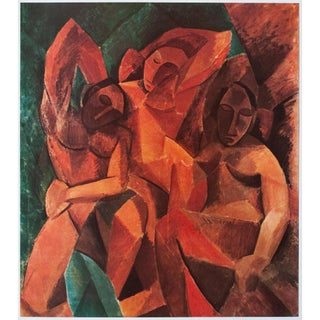 """1954 Pablo Picasso """"The Three Women"""" Large Period First Limited Italian Edition Lithograph For Sale"""