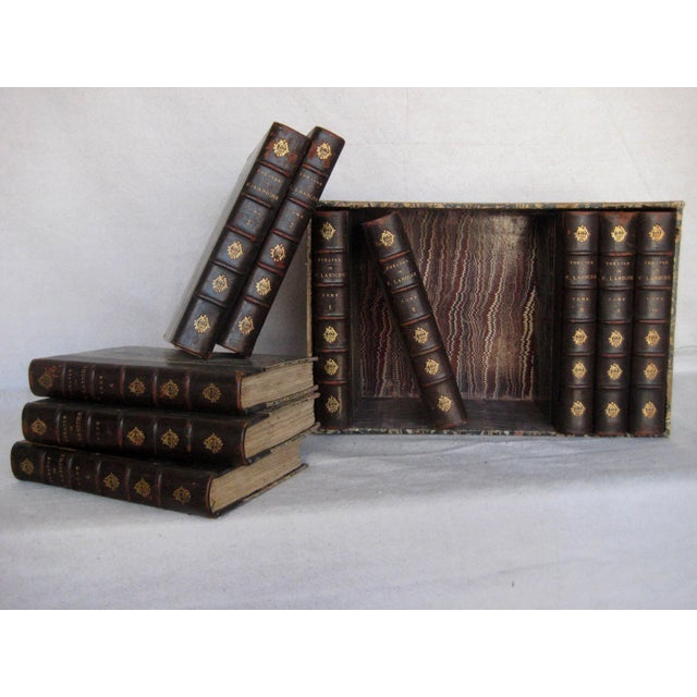 Late 19th Century French Leather Books - Set of 10 For Sale - Image 6 of 12
