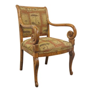 Fairfield Marbleized Empire Style Chair For Sale