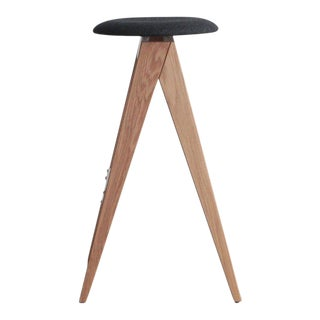 Tgm Mid-Century Modern Compass Bar Stool For Sale