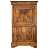 Image of 18th Century Catalan Drop-Front Oak Secretary Desk or Abattant, Spain For Sale