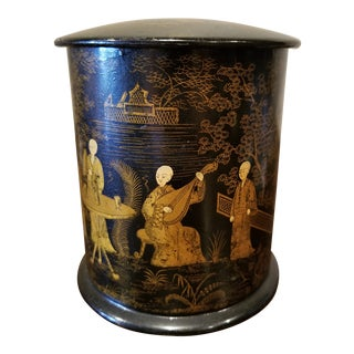 Chinoiserie Tea Caddy Box For Sale