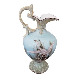 Nippon Moriage Snow Geese Pitcher For Sale