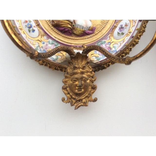 Porcelain & Bronze Royal Portrait Sconces - A Pair - Image 7 of 11
