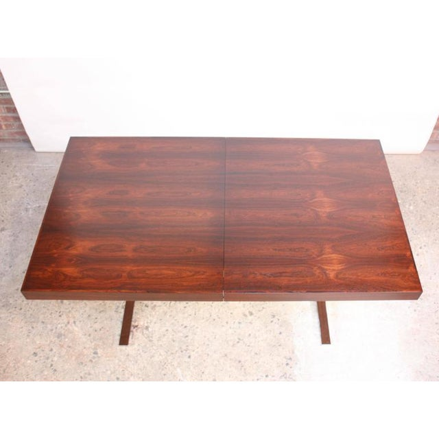 Poul Nørreklit Low Rosewood Extension Table for Georg Petersens For Sale In New York - Image 6 of 10