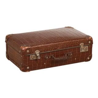 1940s Vintage Alligator Suitcase For Sale