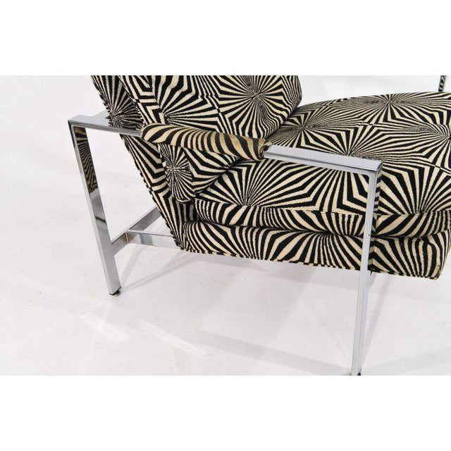 Milo Baughman for Thayer Coggin Lounge Chair with Verner Panton Fabric For Sale - Image 5 of 9