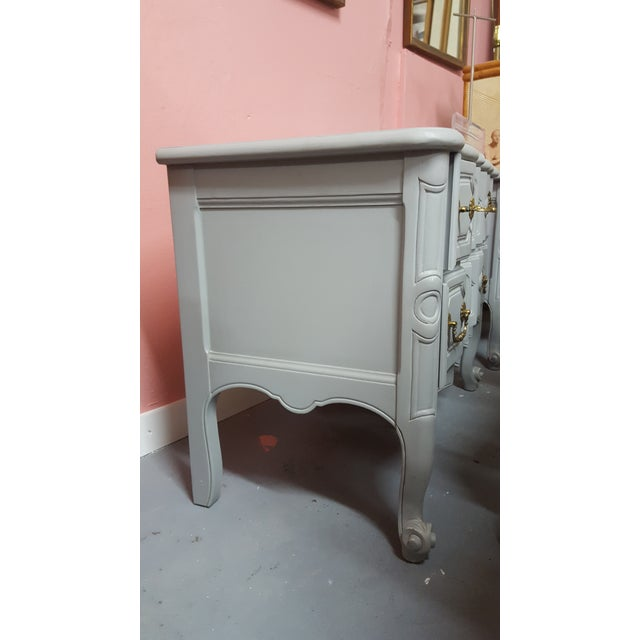 Baker Furniture Serpentine Front French Country Nightstands A Pair For Sale - Image 12 of 12