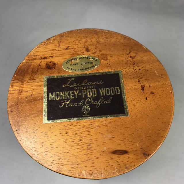 Monkey Pod Mid-Century Wooden Pineapple For Sale - Image 5 of 9