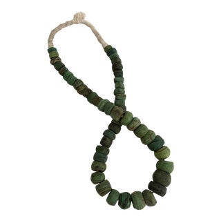 Rare Antique African Green Hebron Kano Trade Beads