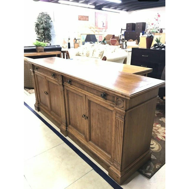 Rustic Heritage Grand Tour Rustic Solid Wood Buffet Server For Sale - Image 3 of 6