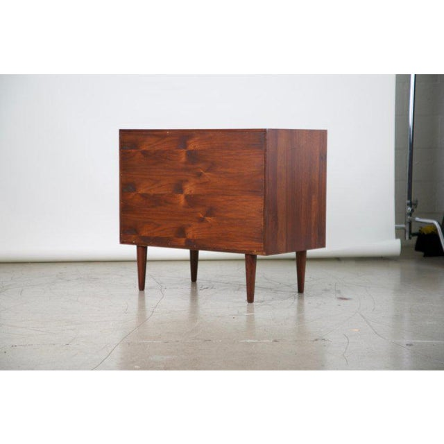 Small Mid-Century Modern Lockable Walnut Cabinet or Mini-Bar or Dry Bar For Sale - Image 12 of 13