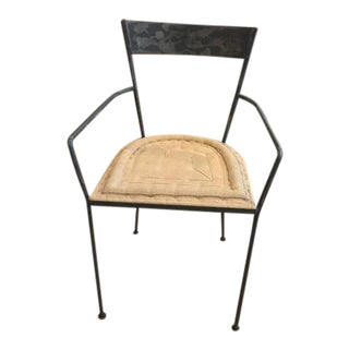 ABC Carpet & Home Industrial Chair With Tan Cushion