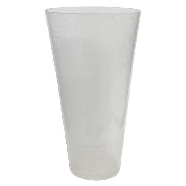 Glass Oversized Italian Clear Bollicine Murano Glass Vases For Sale - Image 7 of 7