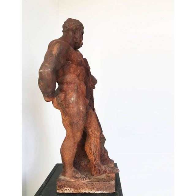 Brown Italian Serpentine Figure of the Farnese Hercules For Sale - Image 8 of 10