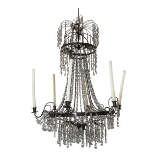 Early 19th Century Swedish Basket-Form Gustavian Chandelier For Sale