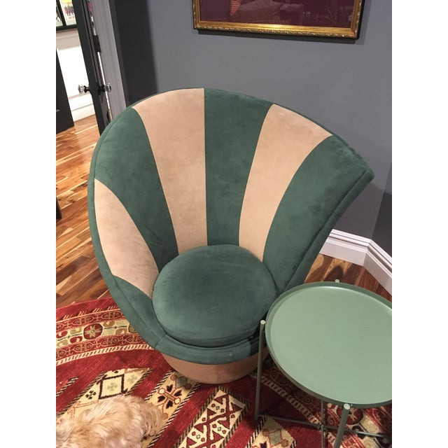Fabric Vladimir Kagan for Weiman Vintage 20th Century Swivel Chairs - a Pair For Sale - Image 7 of 12