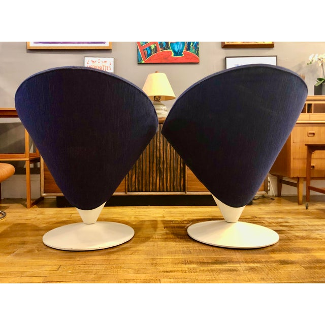 Adrian Pearsall Mid Century Modern Adrian Pearsall Cone Chairs for Craft Associates - a Pair For Sale - Image 4 of 11