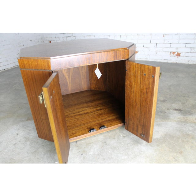 Vintage Founders Furniture Cabinet Table For Sale - Image 7 of 11