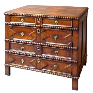 17th Century English Moulded Chest of Drawers For Sale