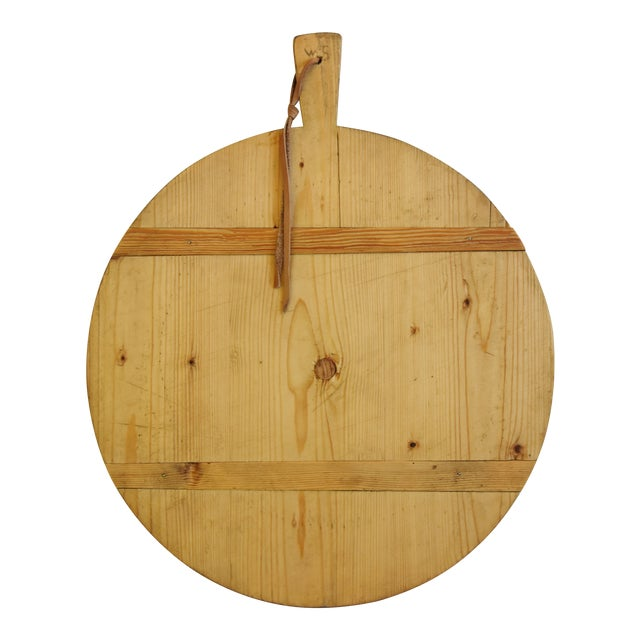 Vintage European Charcuterie Cheese Meat Bread Display Board For Sale