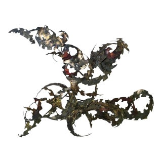 Oversized Silas Seandel Iron Wall Sculpture