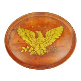 Vintage Boltalite Oval Tray with Eagle Design For Sale