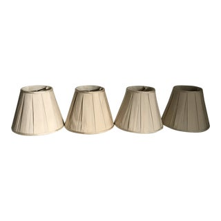 Silk Box Pleat Chandelier Shades - Set of 4 For Sale