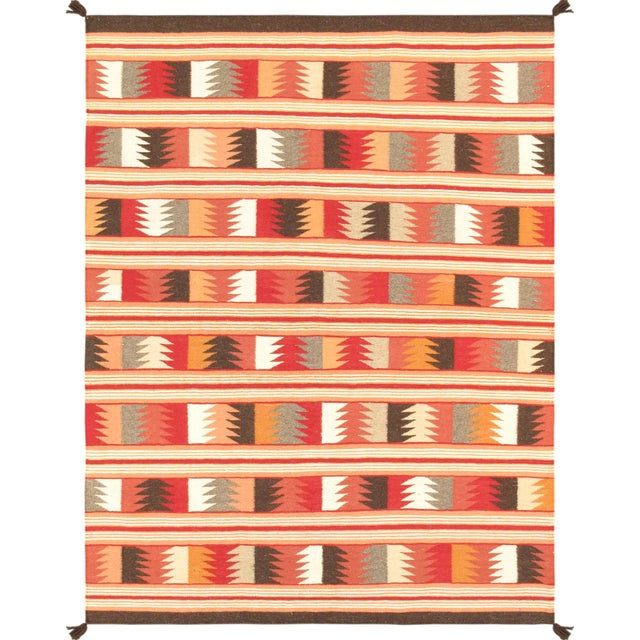 """Pasargad's Navajo Style Hand-Woven Rug - 5' X 6' 9"""" For Sale"""