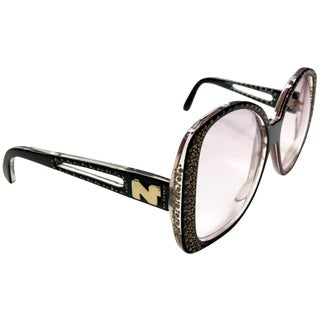 Nina Ricci Butterfly Strass Crystal Encrusted Sunglasses For Sale