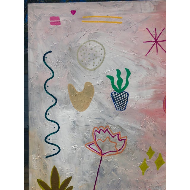 2010s Oversized Original Abstract on Canvas by Virginia Chamlee For Sale - Image 5 of 9