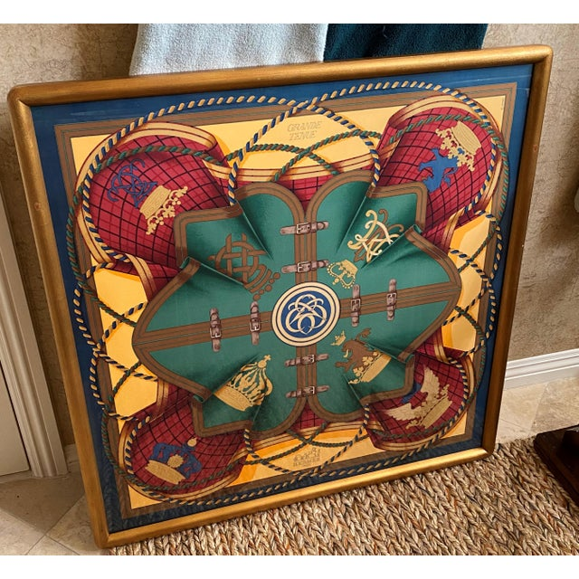 Professionally Framed Hermes Scarf For Sale - Image 9 of 9
