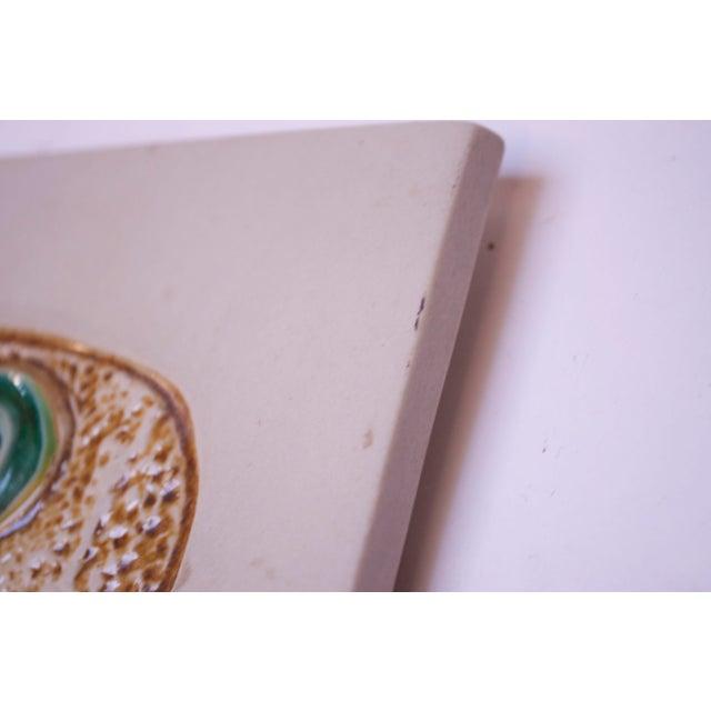 Ceramic Mid-Century Owl Trivet / Wall Tile by David Gil for Bennington Potters For Sale - Image 7 of 11