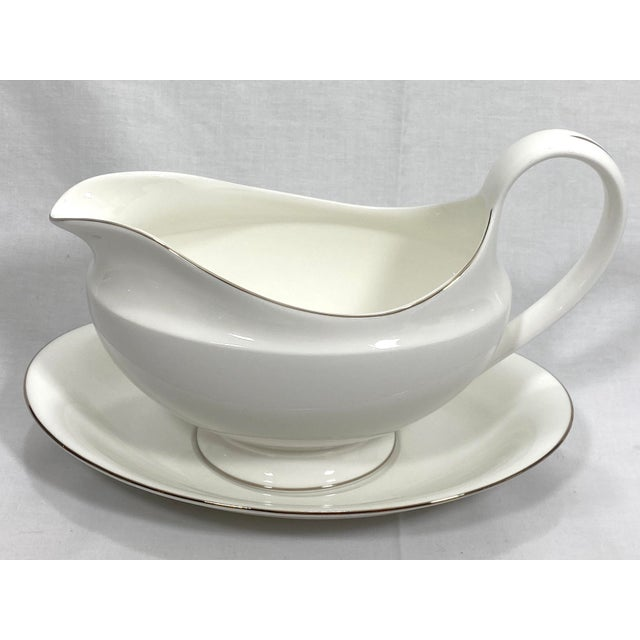 Traditional Wedgwood Gravy Boat & Saucer, Set of 2 For Sale - Image 3 of 11