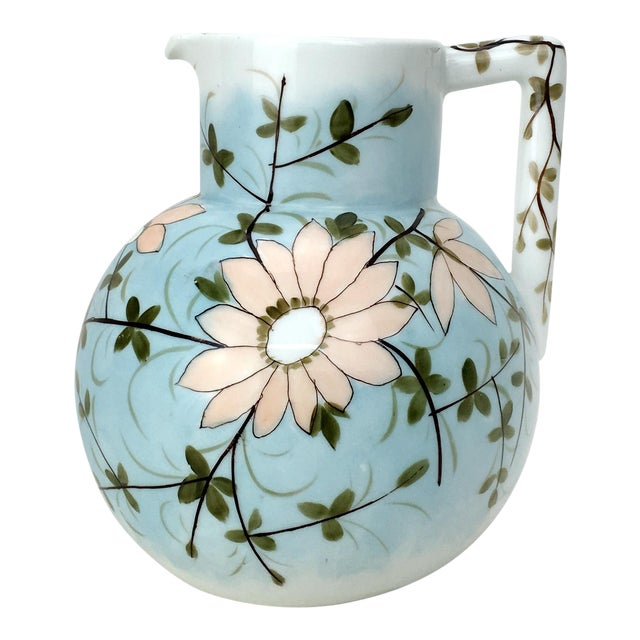 RS Prussia Pastel Floral Vintage Pitcher For Sale