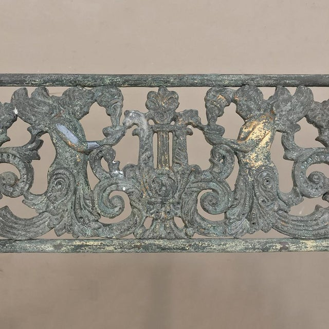 Early 19th Century French Charles X Cast Iron Armchair For Sale - Image 9 of 11