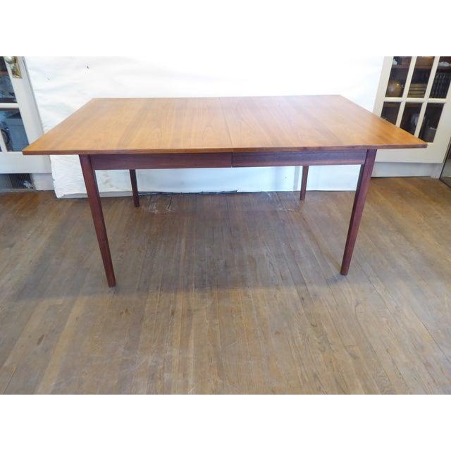 Brown Vintage Modern Walnut Dining Table For Sale - Image 8 of 8