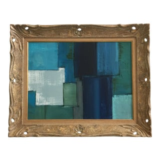 Abstract Rectilinear Painting by Kimberly Moore For Sale