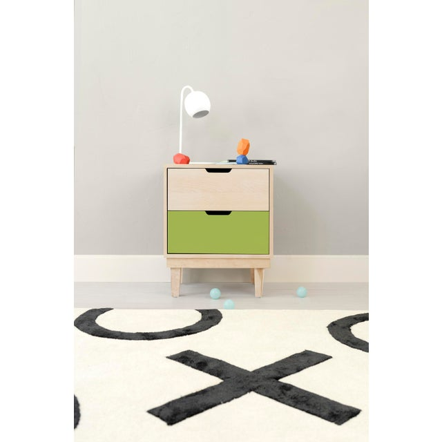 Kabano Modern Kids Maple Wood 2-Drawer Nightstand. A simple elegant design, a modern take on a '50s inspired shape. Our...