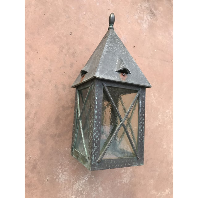 Vintage Tudor Style Bronze Outdoor Wall Sconce For Sale In Phoenix - Image 6 of 6