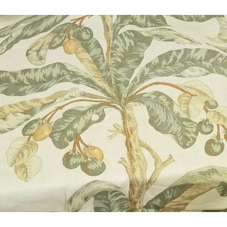 Schumacher Blair House Palm Royal Retreats Linen Fabric For Sale