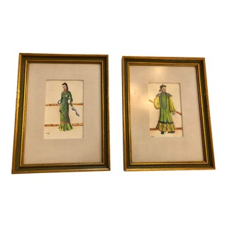 Chinoiserie Framed Wall Prints- a Pair For Sale