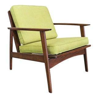 Mid-Century Modern 'Citron' Walnut Lounge Arm Chair For Sale