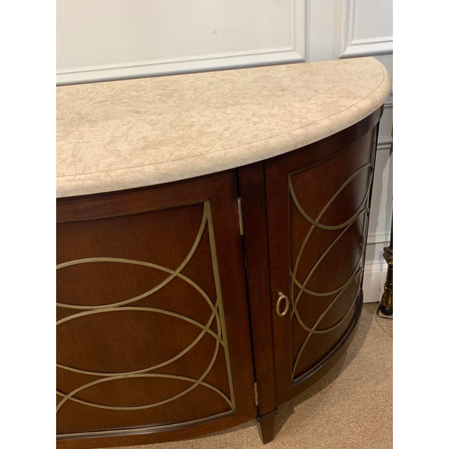 Duchamp Demilune Sideboard With Satillia Marble Top, by Hickory Chair Furniture For Sale - Image 10 of 12