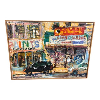 Noisy New York City Essex Street Painting For Sale