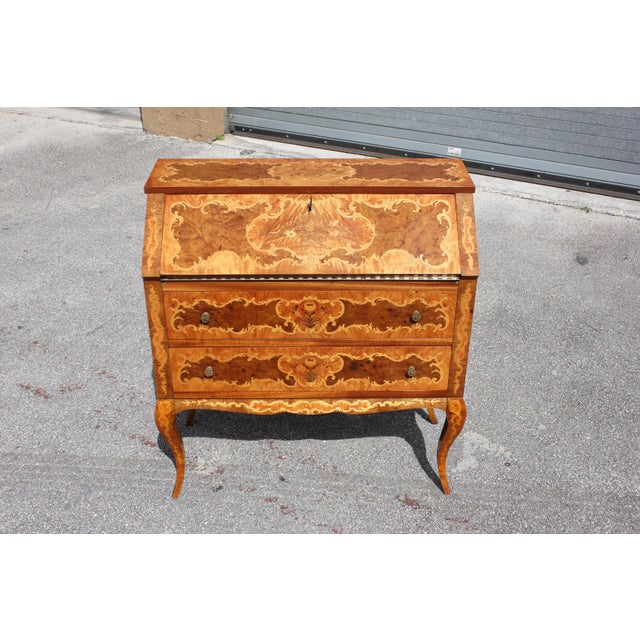1950s 1950s Italian Louis XV Style Luxury Secretary Desk For Sale - Image 5 of 13