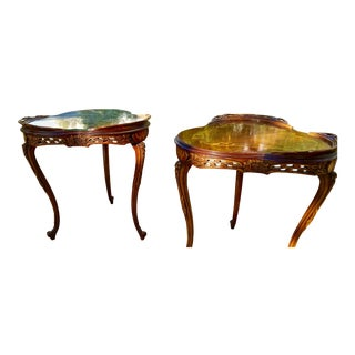 Early Century Side Tables - A Pair For Sale