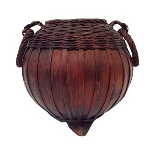 Meiji-Taisho Period Ikebana Bamboo Basket For Sale